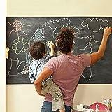 [Autocollant Tableau Noir] ohuhu® Effaçable Auto-adhésif Sticker Blackboard/Autocollant Tableau Noir Mural Réutilisable et Amovible