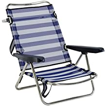 Alco Electronics Ltd Alco Chaise inclinable pour plage, aluminium, Fibreline