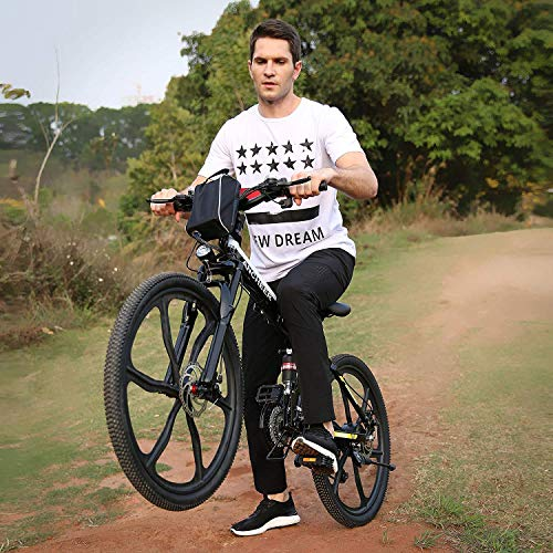 Hiriyt Faltbares E-Bike,36V 250W Elektrofahrräder, 8A Lithium Batterie Mountainbike,26 Zoll Große Kapazität Pedelec mit Lithium-Akku und Ladegerät