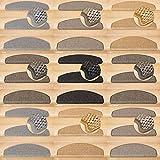 Kettelservice-Metzker® Stufenmatten Göteborg Halbrund | in verschiedenen Setvarianten | 65x24x3,5cm | Grau-Braun 15 Stück