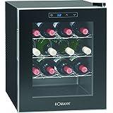 Bomann KSW 344 Weinkühlschrank Freistehend / A / 131 kWh/Jahr / 52.0 cm / 16 Flaschen / elektronische Temperatursteuerung und -einstellung / schwarz
