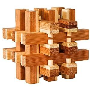 Fridolin 17467-  Rompecabezas de Madera de bambú