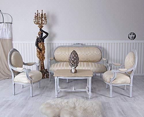 Sitzgruppe Sofa Sessel Couchtisch Rokoko Sitzgarnitur Salon Barocksofa Palazzo Exklusiv