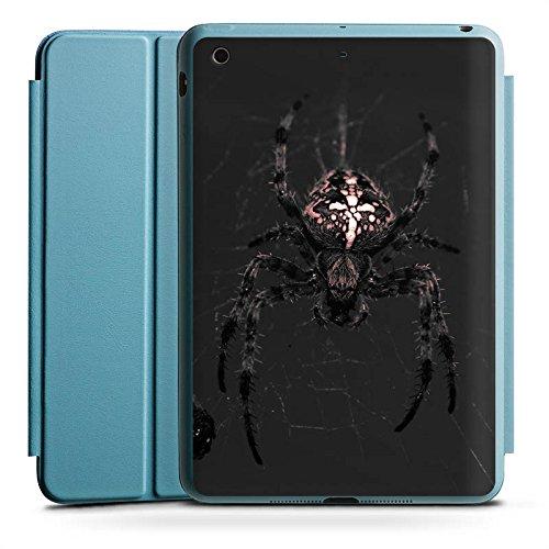 Spider Case Ipad Mini (Apple iPad Mini 2 Smart Case hellblau Hülle Tasche mit Ständer Smart Cover Araneus Spinne Spider)