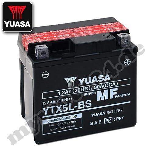 Batería Yuasa ytx5l de BS, 12V/4Ah (Dimensiones: 114x 71x 106)