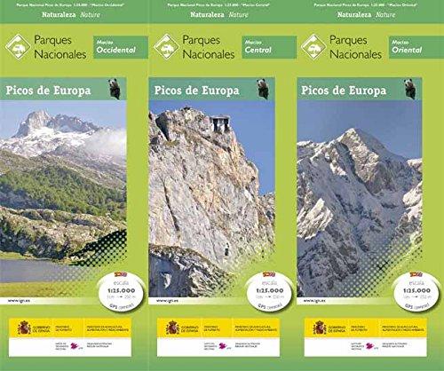 P.N. Picos de Europa. 3 mapas. Escala 1:25.000. IGN/CNIG