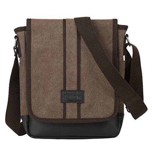 Eshow Herren Freizeit Schule Arbeit Umhängetasche Schultertasche Handtasche Tasche Schultasche Messenger Bag Canvas