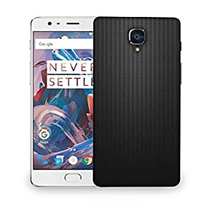 Snoogg Plain Black Wall Designer Protective Phone Back Case Cover For OnePlus Three