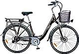 i-Bike City 1d Bicicletta Elettrica Con Pedalata Assistita, Nero, 28'