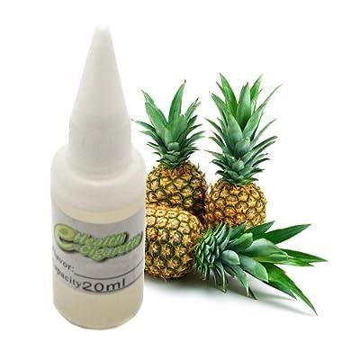 Nachfüll Fluid 20ml Ananas Geschmack ohne Nikotin Liquid für die elektrische Zigarette Tabak Geschmack - Zum Nachüllen von Depots für elektrische Zigaretten, Zigarren und Pfeifen von Oramics