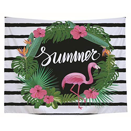 BIGBOBA. Tapiz de Pared de Flamenco Patrón Diseño-Grande Toalla para Playa Decoración Dormitorio o Sala de Estar