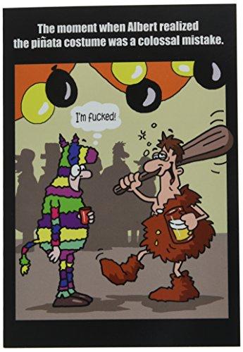 –Funny Halloween Grußkarte mit 12,7x 17,8cm Umschlag von Nobleworks (Kreative Karton Kostüme)