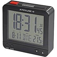 Atrium De Radio Digital despertador LCD sensorgesteuerte Luz nocturna Función de repetición de función obenabsteller Reloj despertador de viaje Negro/Rojo A740–7