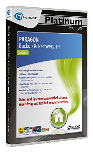 Paragon Backup & Recovery 14 Home - Avanquest Platinum Edition