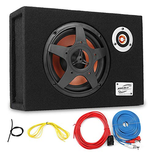 Hadeyicar 8 Zoll 480w Auto Subwoofer 12V ultradünne Bass Sitzlautsprecher 21mm Auto Audio Subwoofer 8 Zoll Auto Leistungsverstärker Power Subwoofer Lautsprecher (8 Subwoofer Bass Power)