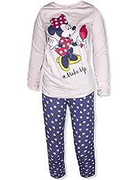 deacffbb79 Disney Minnie Mouse Womens Ladies Long Sleeve Pyjamas PJS Loungewear 100%  Cotton XS S M L -