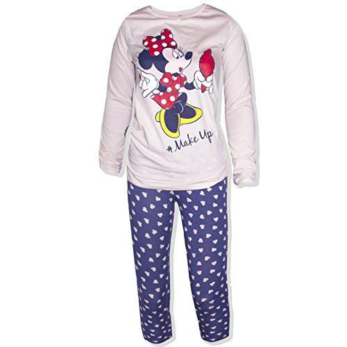 Disney Damen Schlafanzug Hellrosa