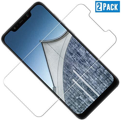 TOIYIOC [2 Stück Panzerglas Schutzfolie für Xiaomi Pocophone F1, 0.30mm Ultra-klar Folie Panzerglasfolie, Bildschirmschutzfolie kompatibel Xiaomi Pocophone F1