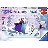 Ravensburger - A1504396 - Puzzle Enfant Classique - La Reine Des Neiges - Soeurs Pour Toujours - 2 x 24 Pièces