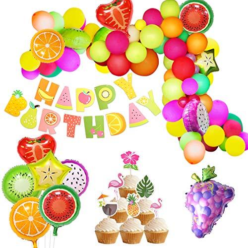 Party Dekorationen Obst Ballon Arch Garland Kit fruchtigen Geburtstag Baby Shower Dekorationen Alles Gute zum Geburtstag Banner für Sommer Tropical Luau Thema Party Supplies ()