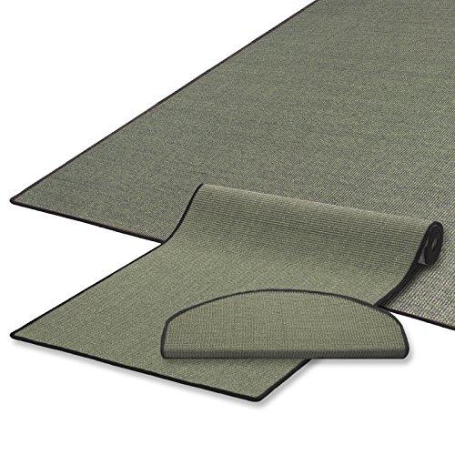 casa pura Sisal Teppich/Läufer | Grau Khaki | Naturfaser | Qualitätsprodukt aus Deutschland | Kombinierbar mit Sisal-Stufenmatten | 19 Breiten und 18 Längen (66x150 cm)