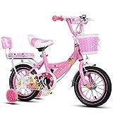 ZHIRONG Kinderfahrrad Rad Des Jungen Und Fahrrad Des Mädchens Mit Trainingsrad 12 Zoll, 14 Zoll, 16 Zoll, 18 Zoll Geschenke Für Kinder ( Farbe : Pink , größe : 18 inches )