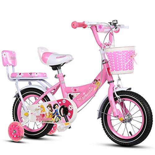 ZHIRONG Kinderfahrrad Rad Des Jungen Und Fahrrad Des Mädchens Mit Trainingsrad 12 Zoll, 14 Zoll, 16 Zoll, 18 Zoll Geschenke Für Kinder ( Farbe : Pink , größe : 14 inches )