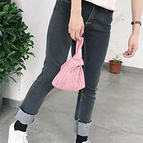 Laat pieghevole cinturino borsa in pelle donne borsa frizione sacchi porta carte di credito soldi di stoccaggio della corsa trasporta zaini piccola borsa tote bag Color 1 21*17*5 Red