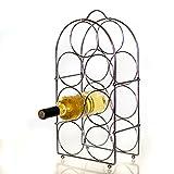 DbKW Metall Flaschenregal für 7 Flaschen, Weinregal, Weinflaschenregal, Flaschenständer …