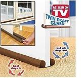 Twin Door Draft Dodger Guard stopper risparmio energetico Protector fermaporta Home Decor