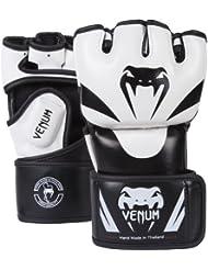 Venum Attack - Guantes MMA, color negro, talla S