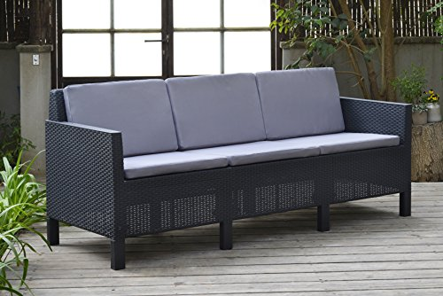 allibert by keter chicago 5 seater rattan lounge set. Black Bedroom Furniture Sets. Home Design Ideas
