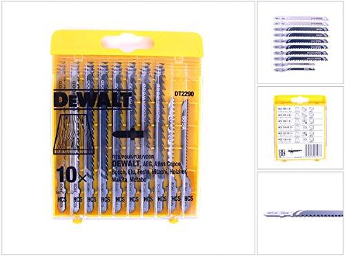 DeWALT Set HCS-Stichsägeblatt Satz Holz, 10 -er teilig, DT2290-QZ