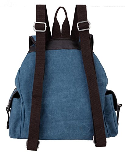 &ZHOU Borsa di tela, Uomini e donne zaino zaino colore puro grande capacità multi-purpose borsa da viaggio Zaini scolastici per il tempo libero , rose red Blue