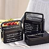 Aliciashouse 3 capas menú almuerzo caja Bento caja estilo japonés Bento comida contenedor microondas de hoy-negro