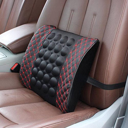51Hk8XgbtsL. SS500  - Car Electric Massage Waist Pillow-12V Electric Car Seat Back Premium Lumbar Lower Back Pain Support Pillow, Protect and…