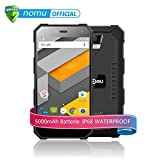 NOMU S10 4G Schroffes Smartphone Android 6.0 5.0 Zoll Gorilla Glasschirm MTK6737 1.5GHz Quad Core 2GB RAM 16GB ROM IP68 Stoßfestes Wasserdichte Robuste 5000mAh Batterie GPS Geomagnetischer Sensor Schnelle Aufladeeinheit - Schwarz