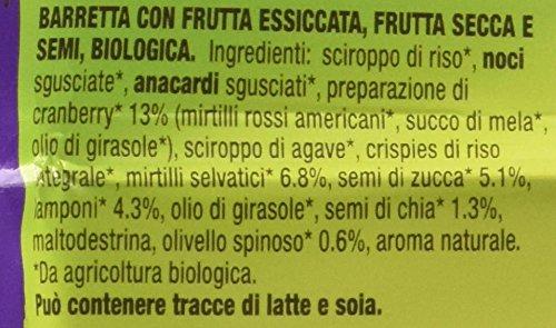 Noberasco BioBreak con Cranberry, Mirtilli Neri e Semi di Chia 35 g; 24 BARRETTE CON FRUTTA ESSICCATA, FRUTTA SECCA E… 3 spesavip