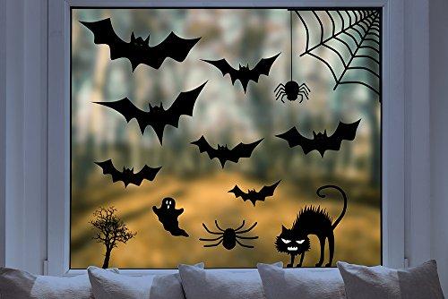Fenstersticker - Halloween Set (13 Teile) (Was Eins Und Was Zwei Halloween)