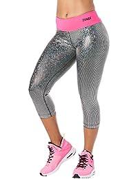 Zumba Women's Light up the Dancefloor Metallic Capri Leggings