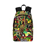 "Rasta / Best Waterproof Backpack / cool backpacks / adult casual backpacks / Bob Marley Made with 1200D High-grade Waterproof Nylon, 11.8""(L) x 5.51""(W) x 17.72""(H) x 5.9""(Hand Drop)."