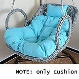 DSAQAO Tutto in Un Unico Cuscino Sedile, Cuscino di Oscillazione Sedia sospesa Reclinabile Seat Pad, L'imbottitura del Sedile Comfort Cuscino per Sedia-A