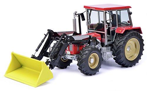 Schuco 450762400 - Traktor Schlüter Compact Frontlader 1250 TV6 1:32, rot