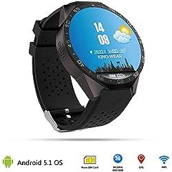 Rrimin 3G Smart Watch Android Quad-Core 4GB Bluetooth WIFI GPS SIM Camera