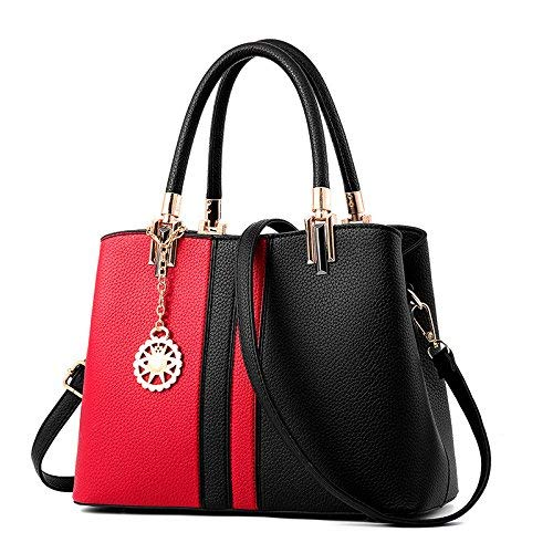 Handtaschen Tasche für Damen Leder Handtaschen harte Hand Tasche billig Grosshandel Crossbody Umhängetaschen weiblichen Bolsas A 834 Blau ca. 30 cm 13 cm 23 cm
