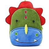 Cute Small Toddler Kids Backpack Plush Animal Cartoon Mini Children Bag for Baby Girl Boy Age 1-3 Years