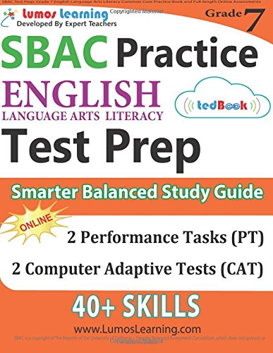 Download pdf sbac test prep grade 7 english language arts grade 7 english language arts literacy ela common core practice book and full length online assessments smarter balanced study guide download online malvernweather Images