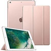 Fintie iPad 9.7 Zoll 2018/2017 Hülle - Ultradünn Superleicht Schutzhülle mit Transparenter Rückseite Abdeckung Cover Case mit Auto Schlaf/Wach Funktion für Apple iPad 9,7'' 2018/2017, Roségold