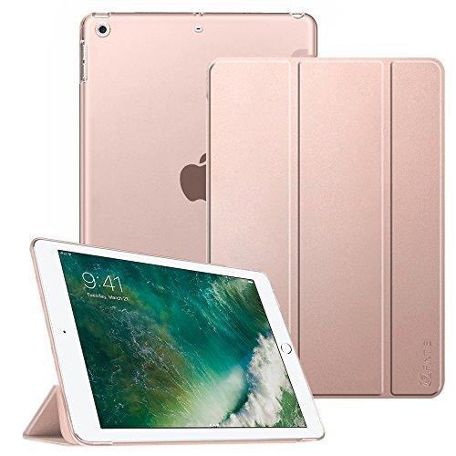 Fintie iPad 9.7 Zoll 2017 Hülle - Ultradünn Superleicht Schutzhülle mit transparenter Rückseite Abdeckung Cover Case mit Auto Schlaf / Wach Funktion für Apple iPad 2017 Neue Modell, Roségold (Ipad 1. Gb 64 Generation)