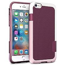 "iPhone 6s Plus / 6 Plus Funda - [Ultra Hybrid] HanLuckyStars Funda Carcasa Case Parachoque TPU Matte Shell Exact Bumper Tope Shock Protección Gota Anti-Arañazos , Choque Absorción Borrar Espalda para Apple iPhone 6 Plus/6s Plus 5.5"" (Rosa/Blaco)"